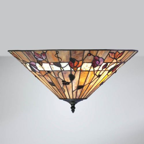 Bernwood Flush Ceiling Light (Nature, Traditional, Flush Fitting) TG62FL (Tiffany style)